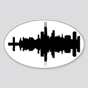 Reflections of Chicago Sticker (Oval)