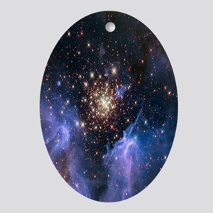 Starburst Cluster Celestial Firework Oval Ornament