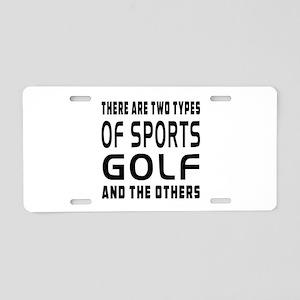 Golf designs Aluminum License Plate