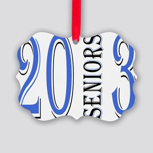 Senior Up in Blue Picture Ornament