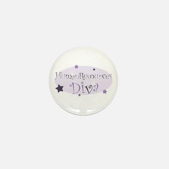 """""""Human Resources Diva"""" [purpl Mini Button"""