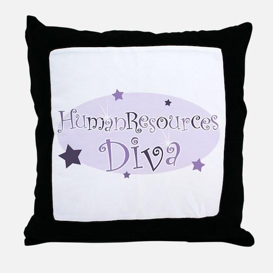 """Human Resources Diva"" [purpl Throw Pillow"