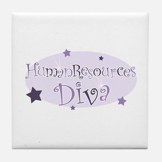 """Human Resources Diva"" [purpl Tile Coaster"