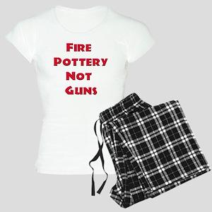 Fire Pottery Not Guns Women's Light Pajamas
