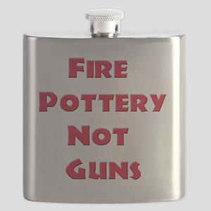 Fire Pottery Not Guns Flask