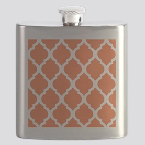 Elegant Orange Geometric Pillow Flask