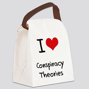I love Conspiracy Theories Canvas Lunch Bag