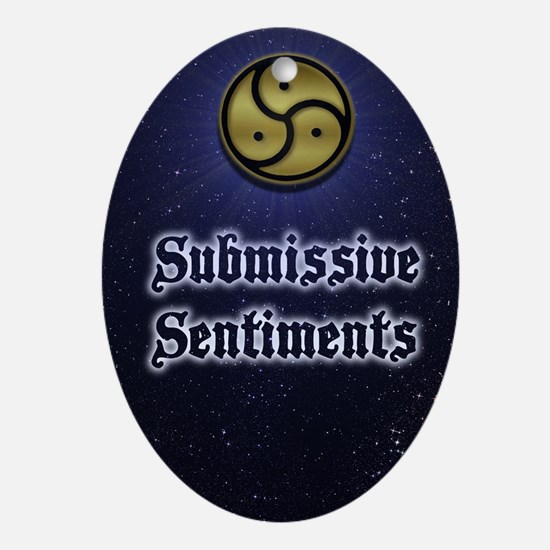 Submissive Sentiments Journal Gold S Oval Ornament