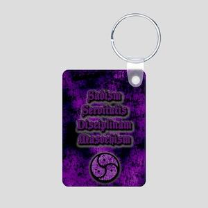 Sadism Servitutis Discipli Aluminum Photo Keychain