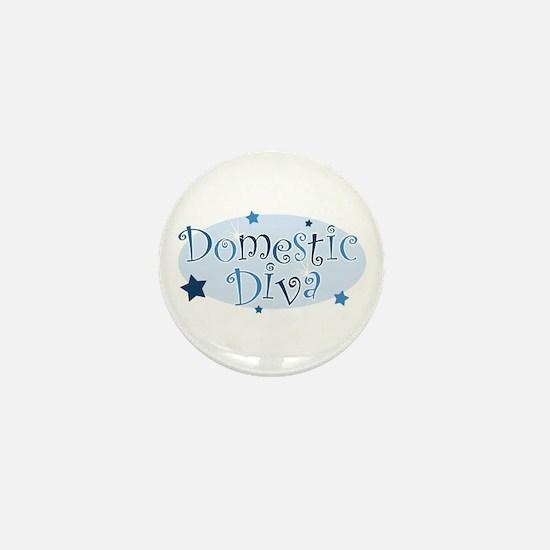 """""""Domestic Diva"""" [blue] Mini Button"""