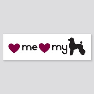 Love My Poodle Bumper Sticker