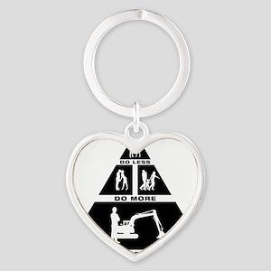 Excavator-11-A Heart Keychain