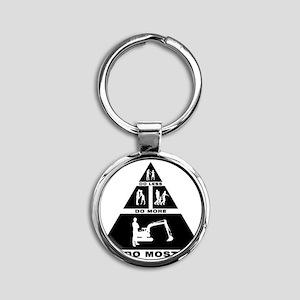 Excavator-11-A Round Keychain