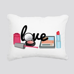 Makeup love Rectangular Canvas Pillow