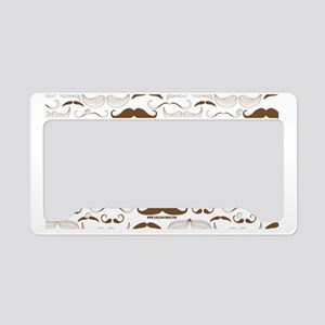 Mustache You A Ques... License Plate Holder