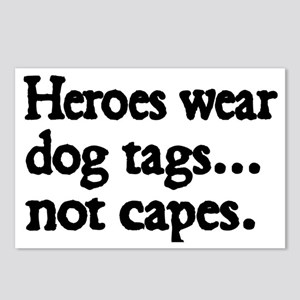 Heroes wear dog tags Postcards (Package of 8)