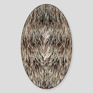 Flip-Flip Fur Sticker (Oval)