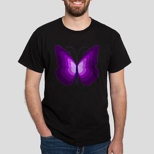 Purple Butterfly Dark T-Shirt