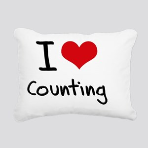 I love Counting Rectangular Canvas Pillow