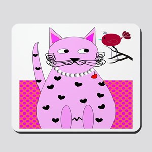 cat bird 6 Mousepad