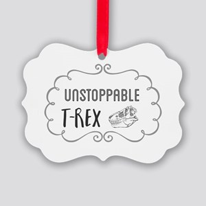 Unstoppable T-rex Picture Ornament