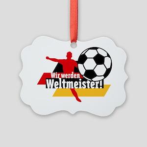 Wir werden Weltmeister! Picture Ornament