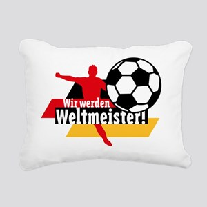 Wir werden Weltmeister! Rectangular Canvas Pillow