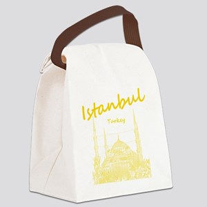 Istanbul_12X12_BlueMosque_Yellow Canvas Lunch Bag