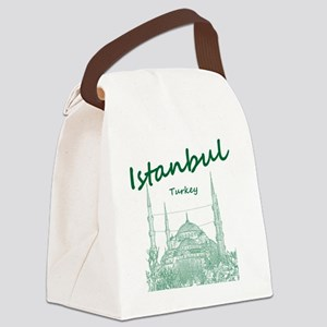 Istanbul_12X12_BlueMosque_Green Canvas Lunch Bag