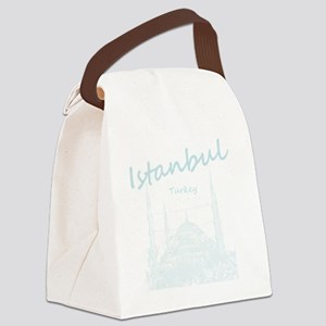 Istanbul_12X12_BlueMosque_BlueLig Canvas Lunch Bag