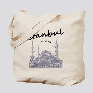 Istanbul_12X12_BlueMosque_Black Tote Bag