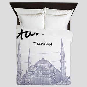 Istanbul_12X12_BlueMosque_Black Queen Duvet