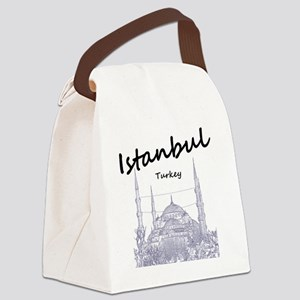 Istanbul_12X12_BlueMosque_Black Canvas Lunch Bag