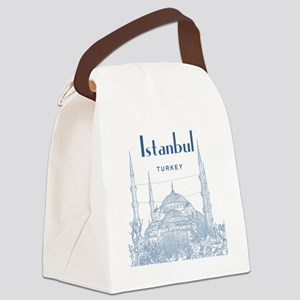 Istanbul_10x10_BlueMosque_Blue2 Canvas Lunch Bag