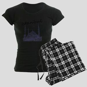 Istanbul_12X12_BlueMosque_Bl Women's Dark Pajamas