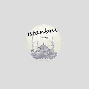 Istanbul_12X12_BlueMosque_Black Mini Button