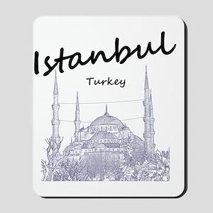Istanbul_12X12_BlueMosque_Black Mousepad