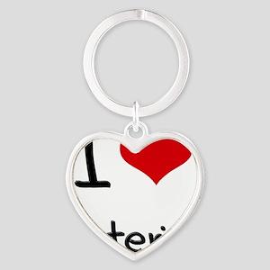 I love Criteria Heart Keychain