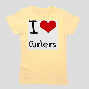 I love Curlers Girl's Tee