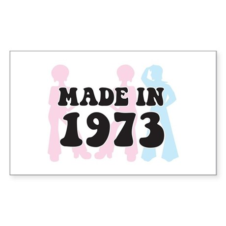 Made In 1973 Rectangle Sticker