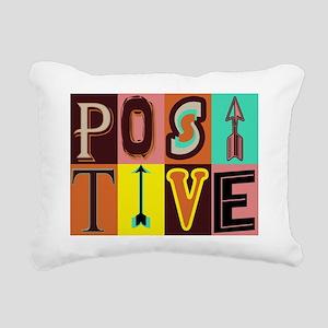 Positive Rectangular Canvas Pillow