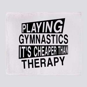 Awesome Gymnastics Player Designs Throw Blanket