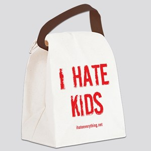 I Hate Kids Canvas Lunch Bag