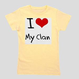 I love My Clan Girl's Tee