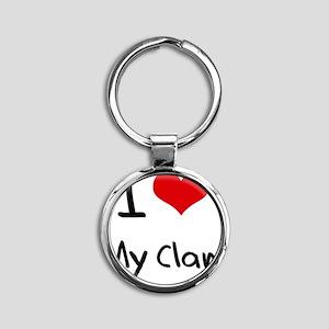 I love My Clan Round Keychain