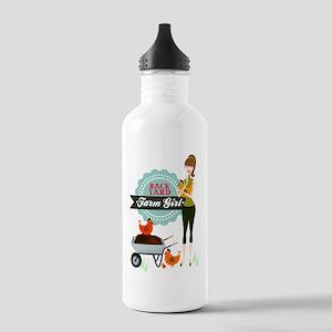 Backyard Farm Girl Stainless Water Bottle 1.0L