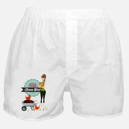 Backyard Farm Girl Boxer Shorts
