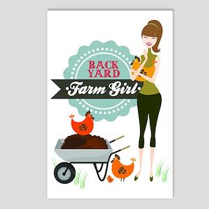 Backyard Farm Girl Postcards (Package of 8)