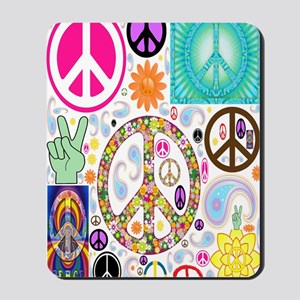 Peace  Paisley Collage FF Mousepad