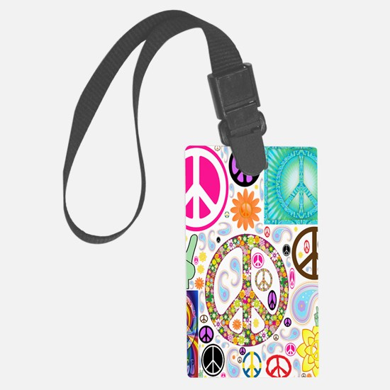 Peace  Paisley Collage FF Luggage Tag